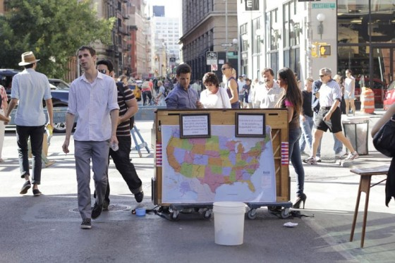 Piano on the street.